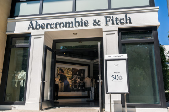 August 20, 2019 Palo Alto / CA / USA - Abercrombie & Fitch store located in Stanford Shopping Mall in San Francisco bay area
