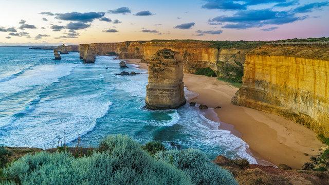 twelve apostles at sunset,great ocean road at port campbell, australia 142