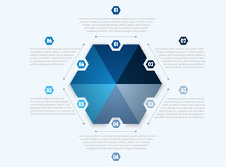 Circle chart design, modern template for creating infographics, presentations, reports, visualizations.  Workflow layout, banner, flow chart, infographic. Vector illustration