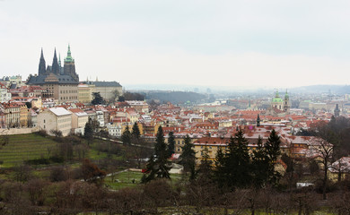 townscape in wintertime - Prague
