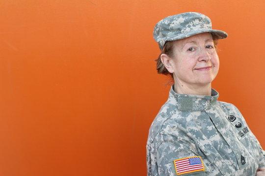 Female U.S.A. army veteran