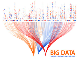 Big data visualization concept vector. Wall mural