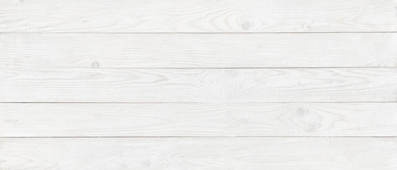 Wall Mural - white wood texture background, wide wooden plank panel pattern
