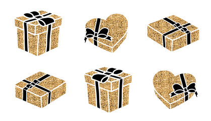 A collection of sparkle gift boxes