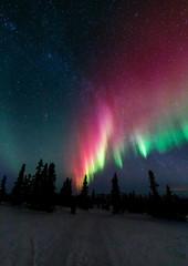 Foto op Aluminium Noorderlicht アラスカ チェナのオーロラ