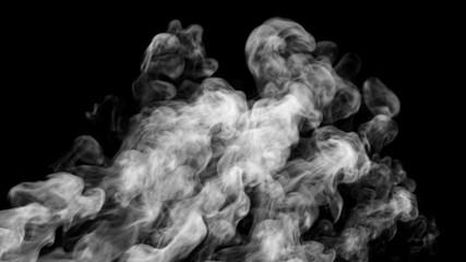 Smoke isolate design. 3d illustration.