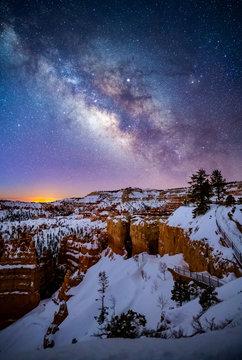 Milky Way over Bryce Canyon, Utah, USA