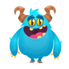 Funny cartoon monster. Vector illustration