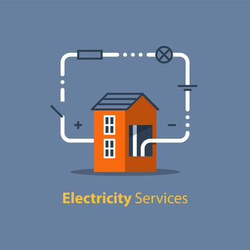 Electricity circuit, repair and maintenance, house with electrical loop