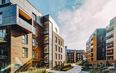 Fototapeta EU Modern european complex of residential apartment buildings obraz