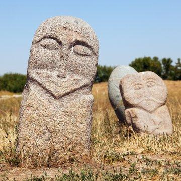 historic stone statue sculpture near Burana Tower