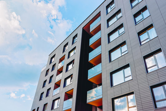 Modern new apartment building architecture