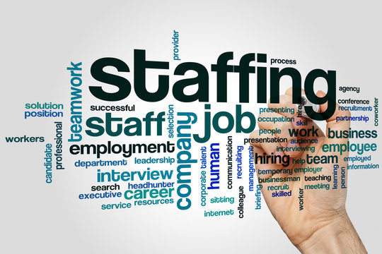 Staffing word cloud