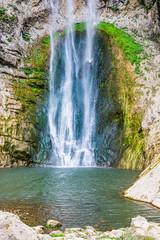 Bliha falls, water of the Bliha drops from 56 meters high cliff - is waterfall Blihe in Bosnia and Herzegovina