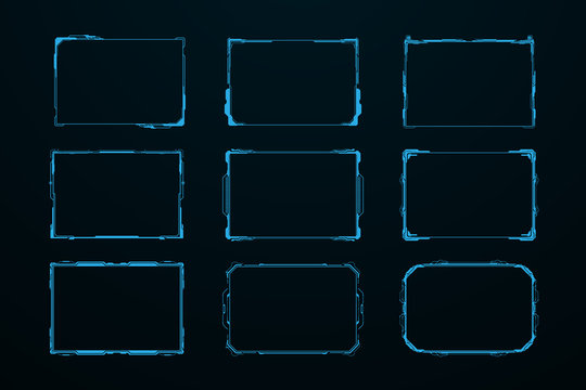 abstract sci fi frame template layout design concept background. vector illustration
