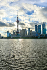 Foto op Aluminium Shanghai Shanghai skyline and cloudy sky landscape,China.
