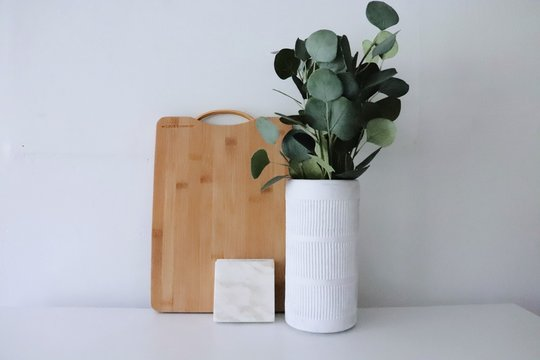 Cutting Board and Vase