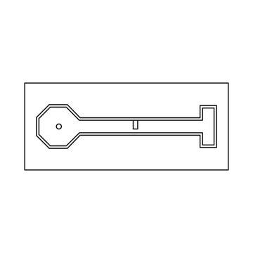 Vector illustration of golf and mini symbol. Collection of golf and club stock vector illustration.