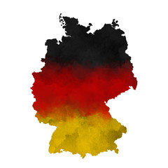 Watercolor map Germany