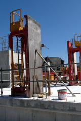 Coffrage sur un chantier de construction