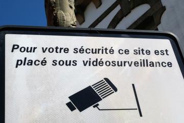 Panneau de signalisation de vidéosurveillance