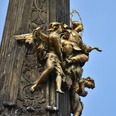 Holy Trinity Column in the main square of the old town of Olomouc, Czech Republic.UNESCO protected site.