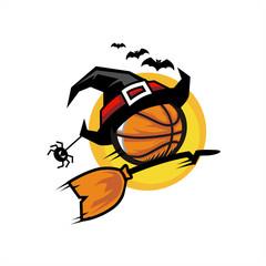 Basketball Halloween Flying Logo 05