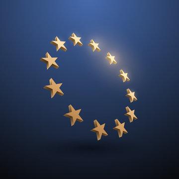 European union gold stars illustration