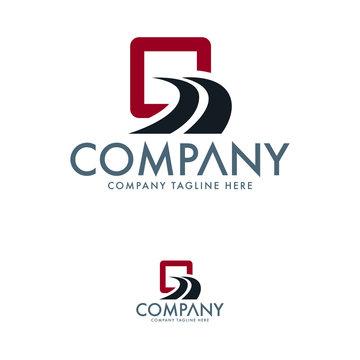 Logistic Logo Design. Road Logo Icon