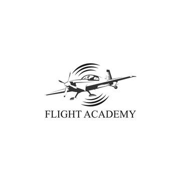 flight logo aviation academy design template