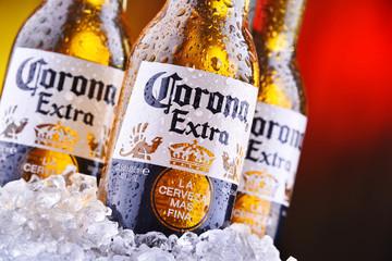 Bottles of Corona Extra beer