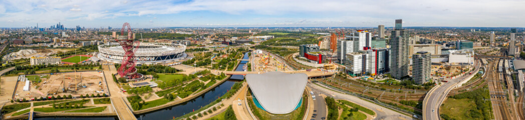 The London Aquatics Centre in the Olympic park.
