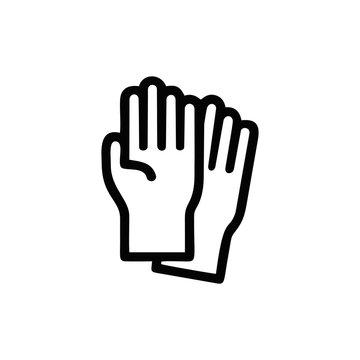 gloves outline icon logo