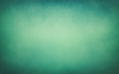 Fototapete - blue green background texture, vintage paper with soft old blurred grunge border illustration with cloudy yellow center