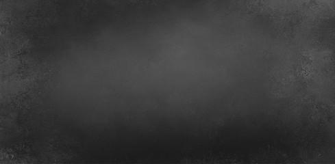 Wall Mural - black chalkboard background texture illustration with light border and dark gray center with soft lighting, elegant vintage background design