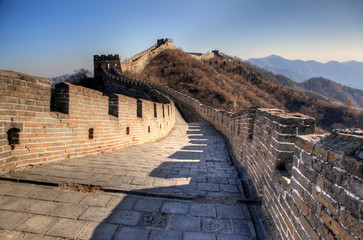 Fotobehang Chinese Muur Great wall of china on a clear winter day