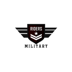 Military Logos Badges Army Symbols Stock Vector