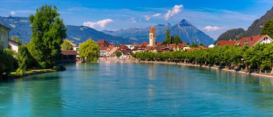 Old City of Unterseen, Interlaken, Switzerland Fototapete