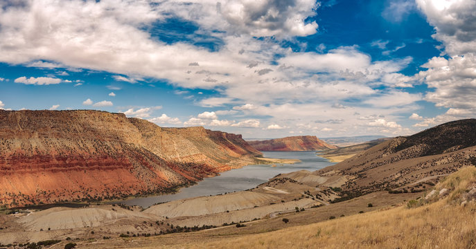 Sheep Creek Overlook, Flaming Gorge on the Border of Utah and Wyoming
