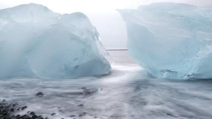 Piece of ice in a glacier