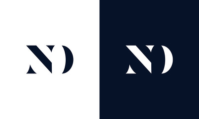 Abstract letter ND logo. This logo icon incorporate with abstract shape in the creative way.