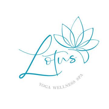 lotus logotype template