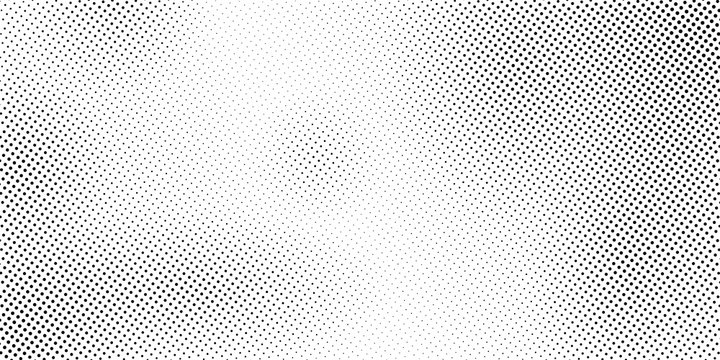 Black and White Dots, Halftone effect. Gradient