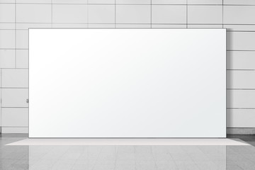 Fabric Pop Up basic unit Advertising banner media display backdrop, empty background, 16:9 Panoramic banner