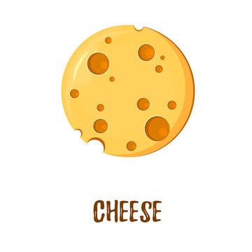 A logo with a planet of cheese with holes. Logo template, vector design, Logo,Symbol, Icon, design Concept.