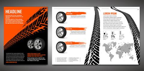 Tire Brochure Template