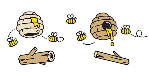 honey bee vector bear polar jam icon doodle cartoon repeat background tile wallpaper illustration design