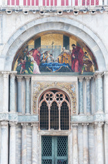 Fototapete - Details of facade of San Marco Basilica in Venice, Italy