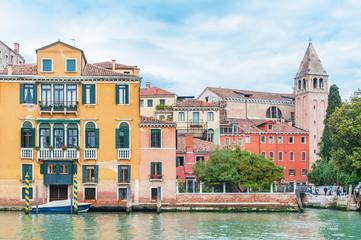 Fototapete - idyllic landscape of grand canal of Venice, Italy