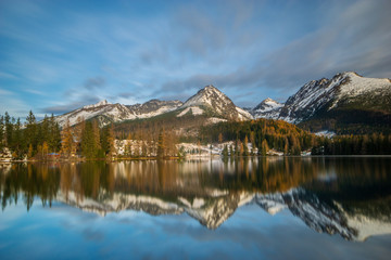 Wall Mural - Mountain lake Strbske Pleso in Slovakia in winter